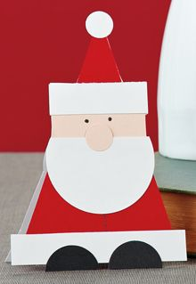 Triangle Santa Card by @Teri Anderson