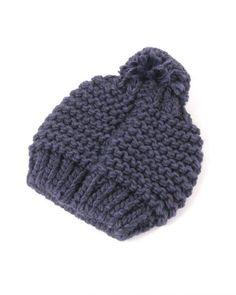 Bronte(ブロンテ)のボンボン付きニット帽です。通販可能で最短で翌日発送です。