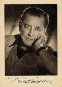 Hans Söhnker Schauspieler 1903 - 1981 R.I.P