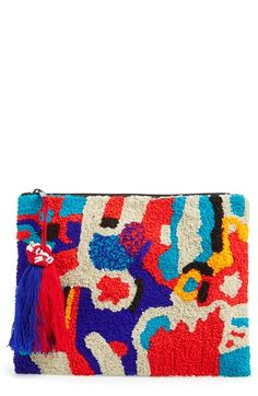 Berry Fabric Zip Clutch available at #Nordstrom