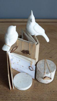 Collier doré nuage origami bambou par LesbijouxdeManon sur Etsy