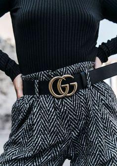 Gucci 'Marmont' GG belt  |  pinterest: @Blancazh