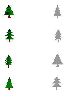 dopasowanki dla dzieci - choinki Preschool Christmas Crafts, Christmas Activities For Kids, Preschool Math, Preschool Worksheets, Visual Motor Activities, Craft Activities, Toddler Activities, Christmas Home, Xmas