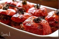 rosii-umplute-cu-carne (3) Romanian Food, Jamie Oliver, Dessert Recipes, Desserts, Tandoori Chicken, Mashed Potatoes, Food Photography, Good Food, Vegetarian