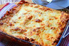 Lasagna with Bolognese Italian recipe Lasagnes a + Lasagne Recipes, Recipe Images, Bolognese, Easter Recipes, Allrecipes, Italian Recipes, Pizza, Good Food, Food And Drink