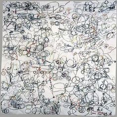 This is the playground series by Anna Torma a Canadian artist originally from Hungary. Anna's works are incredibly detailed paintings, dood. Art Textile, Textile Artists, Quentin Blake Illustrations, Detailed Paintings, Contemporary Embroidery, Textiles, Thread Art, Inspirational Artwork, Canadian Artists