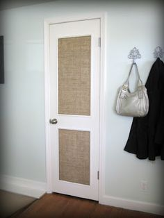 How to Spice up a Flat Panel Door: I want to do this on the doors of the storage cabinets.