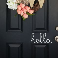 Art decor environmental waterproof removeable PVC home decor English character Hello  wall sticker for door glass decals-in Wall Stickers from Home & Garden on Aliexpress.com | Alibaba Group