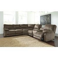 Seamus - Taupe - 4 Pc Reclining RAF Loveseat Sectional