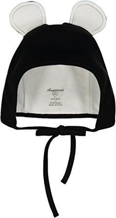 Amoureux Bebe Ultra Soft Turkish Cotton Baby Hat Bonnet with Bunny Ears Black * Want to know more, click on the image.-It is an affiliate link to Amazon.