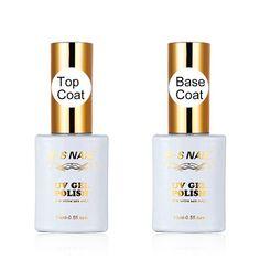 2Pcs 15ml Top and Base Coat UV LED Lamp Cured Nail Gel Polish With High Quality Gel Varnish Top Gel Base Coat Long Lasting