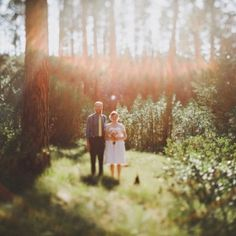 Wedding at a campground, good place to get that fairytale woodland feel for a cheap price!