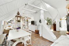 Gorgeous White Attic Penthouse 2