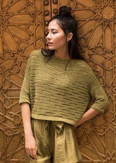 Lana Grossa KASTENPULLI IM WELLENMUSTER Nizza - FILATI No. 55 (Frühjahr/Sommer 2018) - Modell 14 | FILATI.cc WebShop