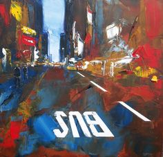 Multi-Textured Paintings of New York, by Daniel Castan