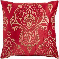 Royal Metallic Printed Pillow - Red