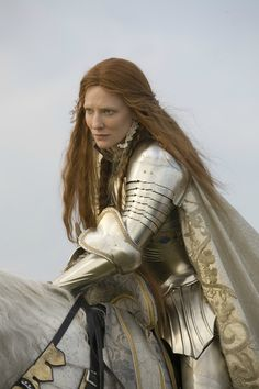 """Costume by Alexandra Byrne for """"Elizabeth: The Golden Age"""". Cate Blanchett as Queen Elizabeth I & beautiful cinematography. Warrior Princess, Warrior Queen, Elven Princess, Cate Blanchett, Elizabeth The Golden Age, Queen Elizabeth, Elizabeth 1998, Elizabeth Movie, Female Armor"""