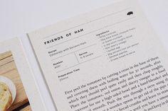 Friends of Ham on Behance and wine Magazine Recipes Recipes design Recipes desserts Recipes layout Recipes organization Magazine Recipes Layout Design, Graphisches Design, Page Design, Graphic Design, Print Design, Design Ideas, Recipe Book Design, Cookbook Design, Cookbook Template