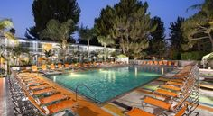 Sportsmen's Lodge Hotel Los Angeles This Studio City hotel is located minutes from Hollywood. Guests can enjoy the over-sized pool and on-site restaurants, and a complimentary shuttle service is available to Universal Studios.