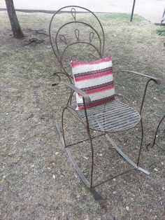 Small Accent Chairs For Living Room Blue Dining Room Chairs, Accent Chairs For Living Room, Outdoor Chairs, Outdoor Furniture, Outdoor Decor, Wrought Iron Patio Chairs, Small Accent Chairs, Chairs For Sale, Rocking Chair