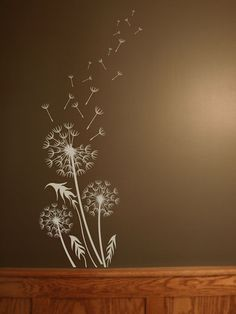 Dandelion Breeze Artistic This Dandelion decal is a fun & popular design that adds a huge natural accent to the wall. Dandelion Wall Decal, Dandelion Art, Dandelion Tattoo Design, Wall Stickers, Wall Decals, Blowing Dandelion, Chalkboard Art, Beautiful Wall, Embroidery Patterns
