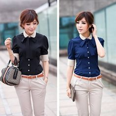 Career shirt  send tie  2013 new Promotions hot trendy cozy women clothes plus size Casual shirt Korean Slim shirt $7,02
