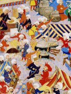 Minyatür (Miniature. The Ottoman Empire the palace's kitchen)