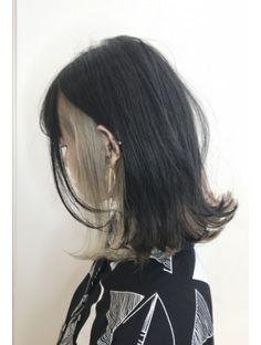 Hidden Hair Color, Two Color Hair, Hair Color Streaks, Hair Dye Colors, Brown Hair Colors, Hair Highlights, Korean Hair Color, Under Hair Dye, Hair Color Underneath