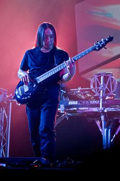 """John Myung, bassist and founding member, Dream Theater. Korean American. Voted the """"greatest bassist of all time"""" in a 2010 poll..."""