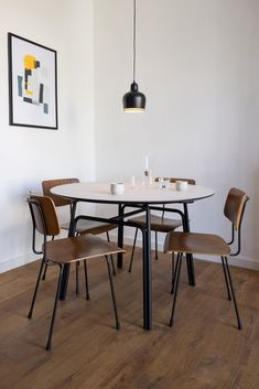 The HOOP table series is a functional and minimalist table design. The friendly, open design creates an elegant and inviting appearance. Using matte, natural and sustainable materials, which both feel and look soft, Studio TOIMII aimed to create a subtle and inviting piece of furniture, which naturally fits in any space. This makes the table a suitable place to meet, eat and work. Suitable for daily use, both commercial and private. Recycled Materials, Steel Frame, Hoop, Commercial, Dining Table, Minimalist, Meet, House Design, Space