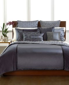 Hotel Collection Finest Velvet and Silk Panel Collection - Bedding Collections - Bed & Bath - Macy's Hotel Collection, Bed Decor, Luxury Bedding Collections, Luxurious Bedrooms, Luxury Bedding Sets, Simple Bedroom, Home Decor, Luxury Bedspreads, Bedding Collections
