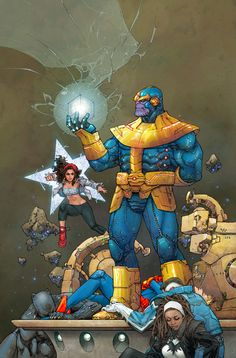 Thanos vs. The Ultimates - Kenneth Rocafort