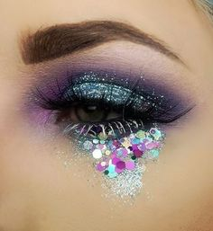 Morphe palette in 35n and 35s   Nyx ultimate brights palette  Nyx jumbo pencil in milk  Glitz out baby blue fine glitter  Glitter army chunky glitter  Unicorn lashes in Buttercup   Nyx white liner on bottom lashes .
