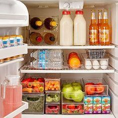 Don't you want your fridge to be THIS organized? I love all these fridge organizers!