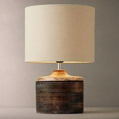 Buy John Lewis Ira Ribbed Wooden Table Lamp Online at johnlewis.com                                                                                                                                                                                 More