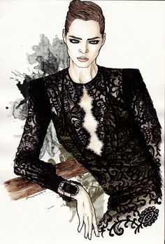GUCCI 2013 | elenapaoletti_illustrations | watercolor