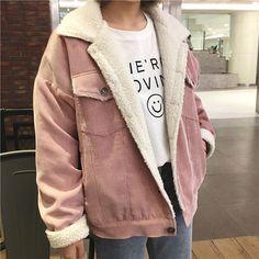 Buy Jolly Club Fleece-Lined Corduroy Jacket | YesStyle