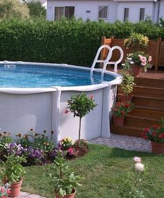 Above Ground Pools are the most effective alternative for resident who want a swimming pool however aren't ready for the much more costly choice of putting in an in-ground pool. Above Ground Pool Landscaping, Backyard Pool Landscaping, Semi Inground Pools, Kidney Shaped Pool, Mini Pool, Pool Decks, In Ground Pools, Cool Pools, Countryside