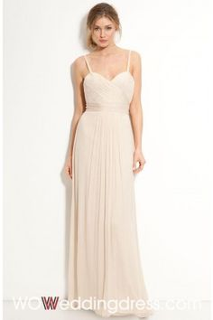 Cheap Flowing Empire Sweetheart Floor-length Pleats Wedding Dress - Beautiful Wedding Dresses Wholesale and retail Online