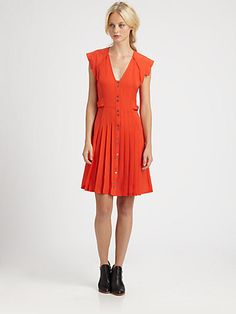 A great party outfit. 10 Crosby Derek Lam - Pleated Silk Dress - Saks.com