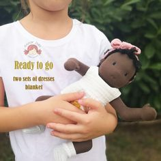 Waldorf doll, waldorf baby doll, black doll, cloth doll, OOAK doll, mustard bloomers, old pink baby romper, gift for girls Mohair Yarn, Ooak Dolls, Gifts For Girls, Baby Dolls, Mustard, Doll Clothes, Rompers, Pink, Handmade