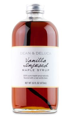 Dean & DeLuca - Simple & understated label with a Boston Round bottle = big impact! Find ours here: http://www.specialtybottle.com/clearbostonroundglassbottle32ozwcap.aspx
