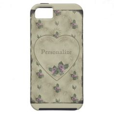 Vintage Rose Powderbox Print Cover iPhone 5 Cover