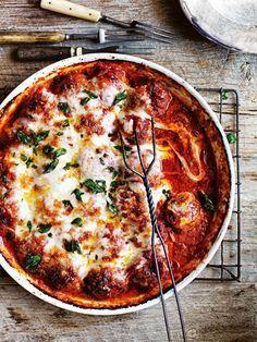 Baked Lamb & Oregano Meatballs via Donna Hay #recipe