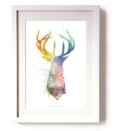 This is a limited edition signed print by Reece Ward Limited to just 500.The print is a silhouette of a proud stags head created using effective watercolour splashes designed by Reece Ward. This piece looks perfect in any living room giving it a modern twist to an old tradition. Signed and numbered by myself R Ward. Each print comes with a certificate of authenticity. It is beautifully and professionally printed in the United Kingdom on 300gsm thick card. Please note, the print is…