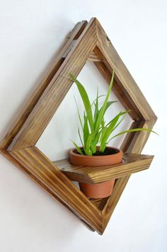 Hanging planter Rustic wall planter Wall terrarium Wooden wall sconce Pallet planter Wooden planter Succulent wall art Wall flower pot Boho - All About Gardens Wall Terrarium, Diy Wall Planter, Succulent Wall Planter, Hanging Planters, Succulents Garden, Diy Wooden Planters, Hanging Flower Pots, Vertical Planter, Terrarium Ideas