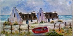 West Coast Stretched Canvas 1000x500x40mm Oil Paintings, Landscape Paintings, Original Paintings, Landscapes, West Coast Fishing, Fishermans Cottage, South African Art, Mini Canvas Art, Gif Pictures