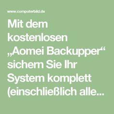 """Mit dem kostenlosen """"Aomei Backupper"""" sichern Sie Ihr System komplett (einschließlich aller Laufwerke, Partitionen und Windows-Konfiguration) oder synchronisieren einzelne Verzeichnisse. Passwortschutz und Komprimierung gehören ebenso zum Funktionsumfang wie Backup-Zeitpläne und die Wahl zwischen Full-Backups, inkrementellen bzw. differentiellen Sicherungen. Auch das Einrichten einer Notfall-CD ist mit dem Backup-Programm möglich. Sollte Ihr PC von einem Virus befallen sein oder sich nicht…"""