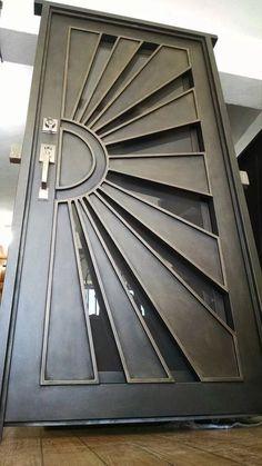 Puerta Principal De Herrería Forja Sol - $ 15,750.00