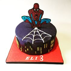 Spider-Man birthday cake by Olivia's Cake Boutique